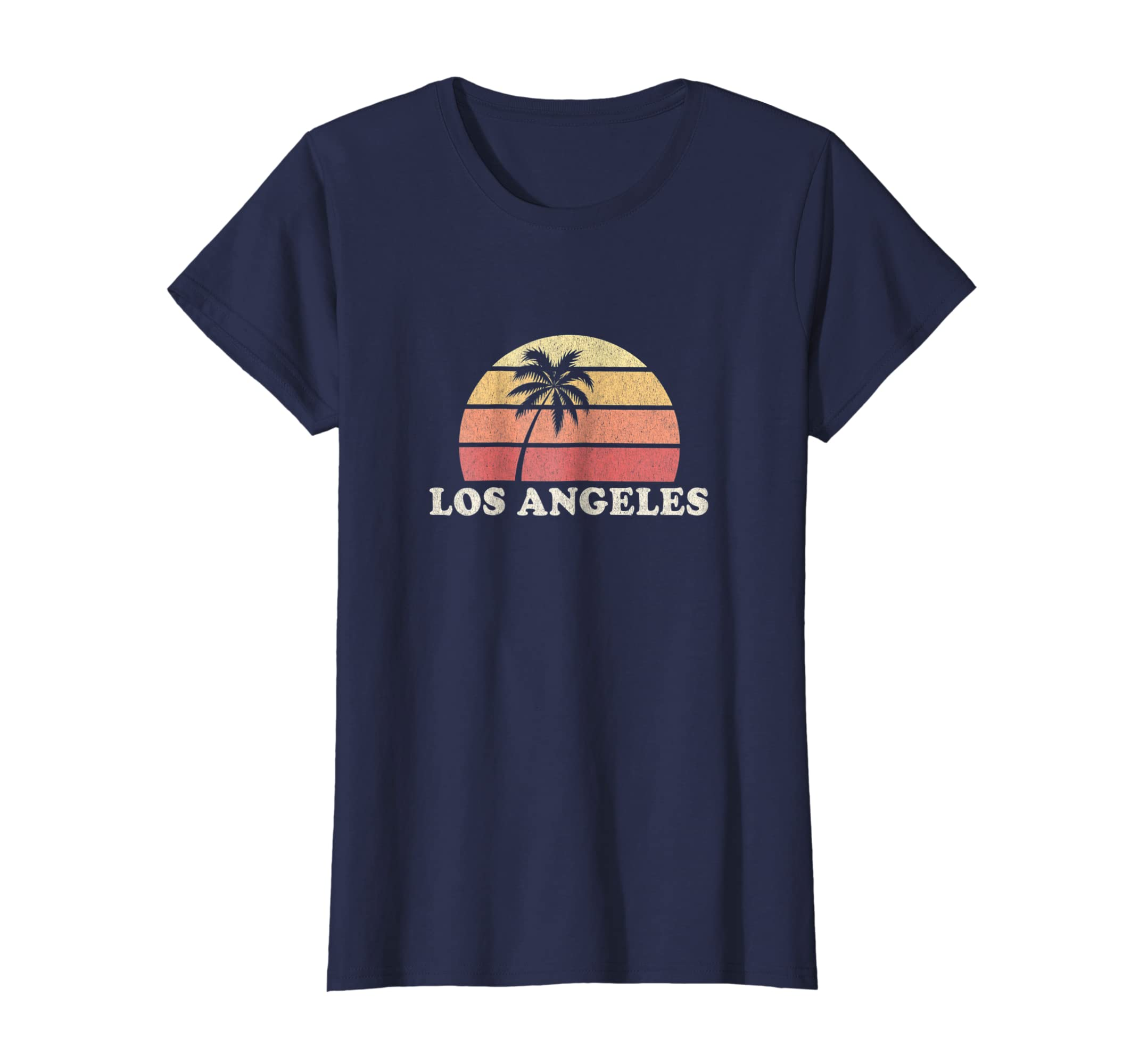af83ceff61 Amazon.com: Los Angeles LA CA Vintage T Shirt Retro 70s Throwback Tee:  Clothing