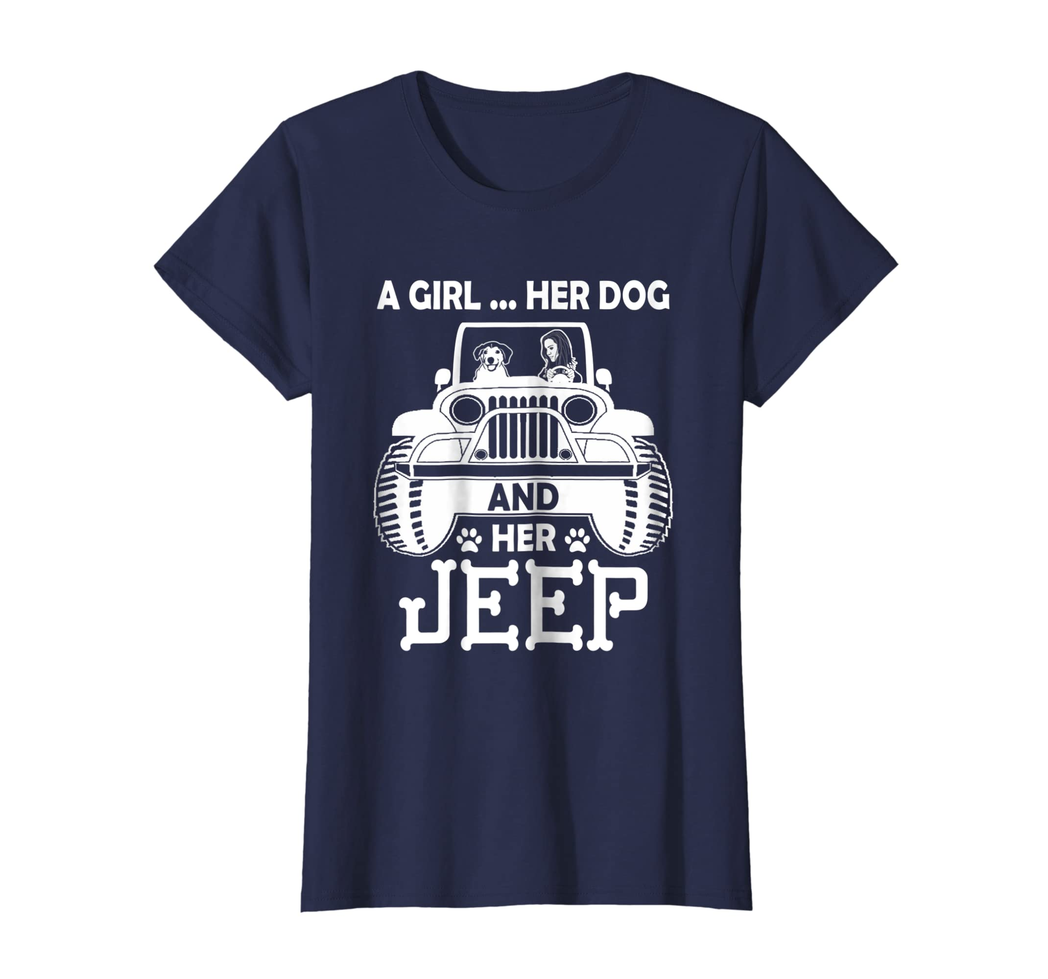 30cfca06227f Amazon.com  Womens Dog Jeep Mom T-shirt  Clothing