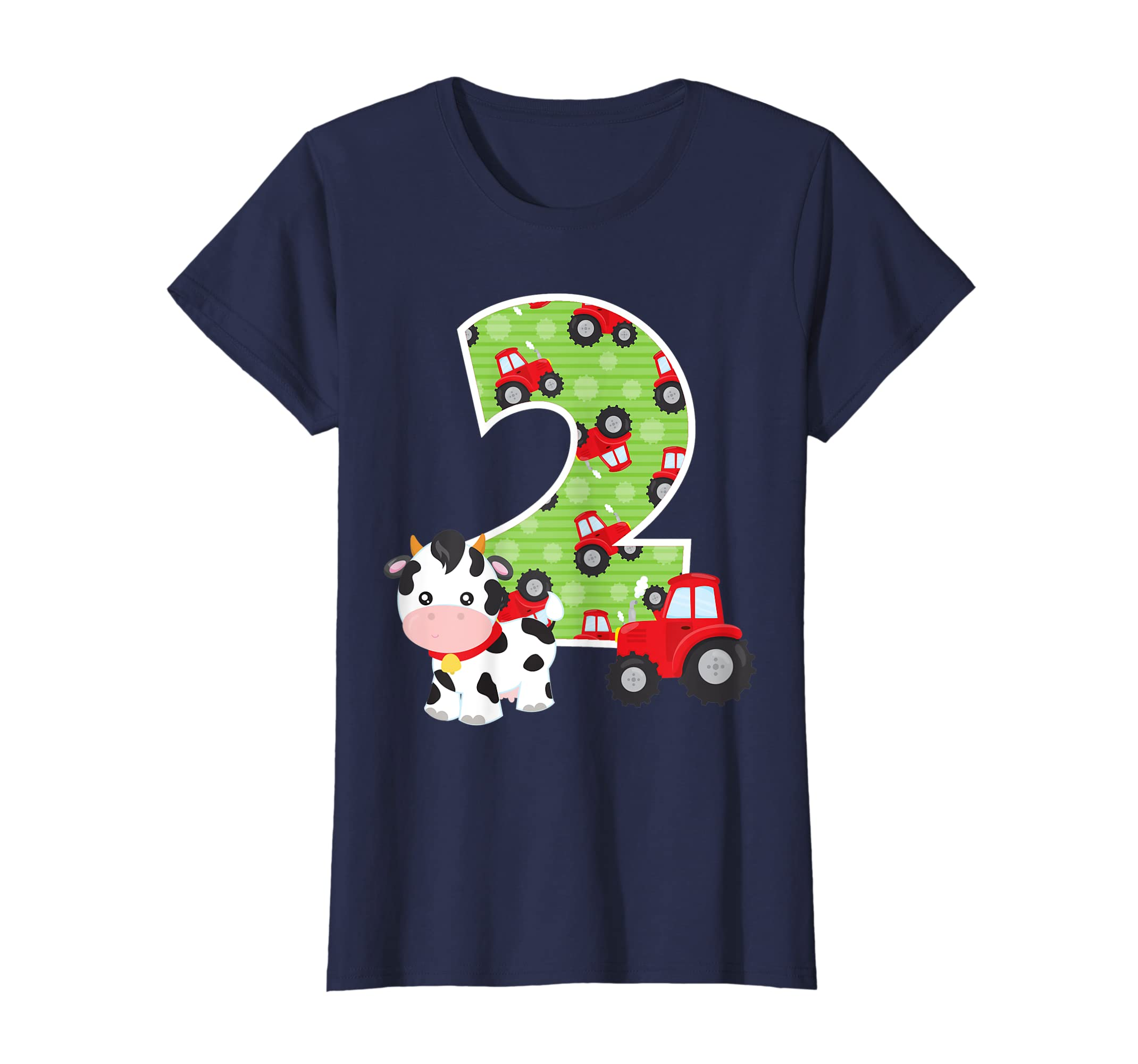 Amazon 2nd Birthday Farm Animals Number 2 Years Old Party T Shirt Clothing