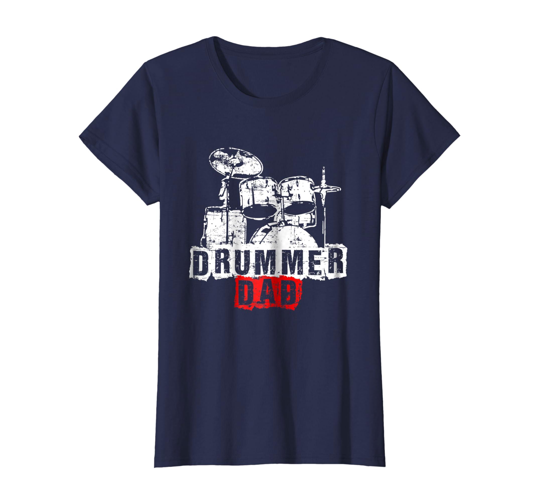 3927c3af Amazon.com: Drummer Dad Drummer Gift Drummer Tshirt Drummer Accessories:  Clothing