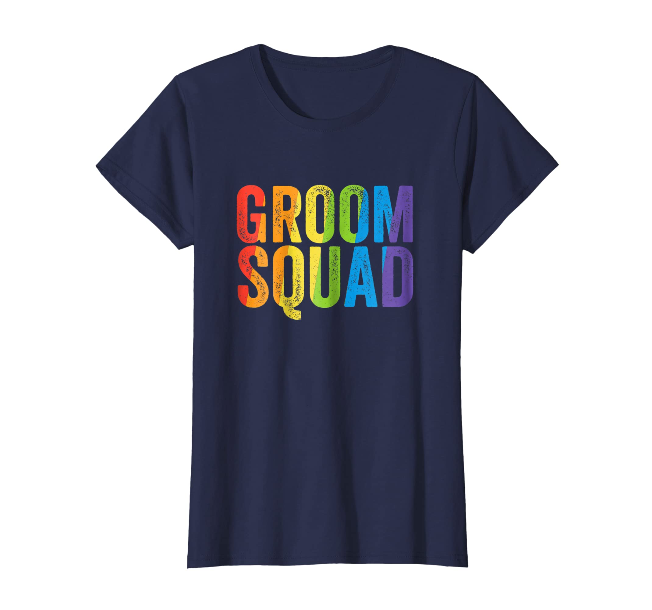 Groom Squad Shirt LGBT Pride Rainbow Bachelor Party Gift-Awarplus