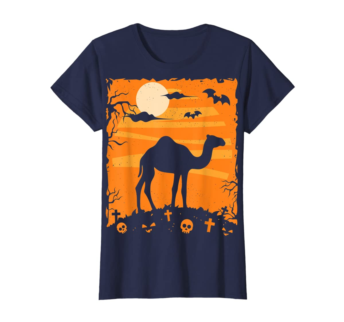 Camel Halloween Costume Animal Funny Pumpkin Outfit Gift T-Shirt-Women's T-Shirt-Navy