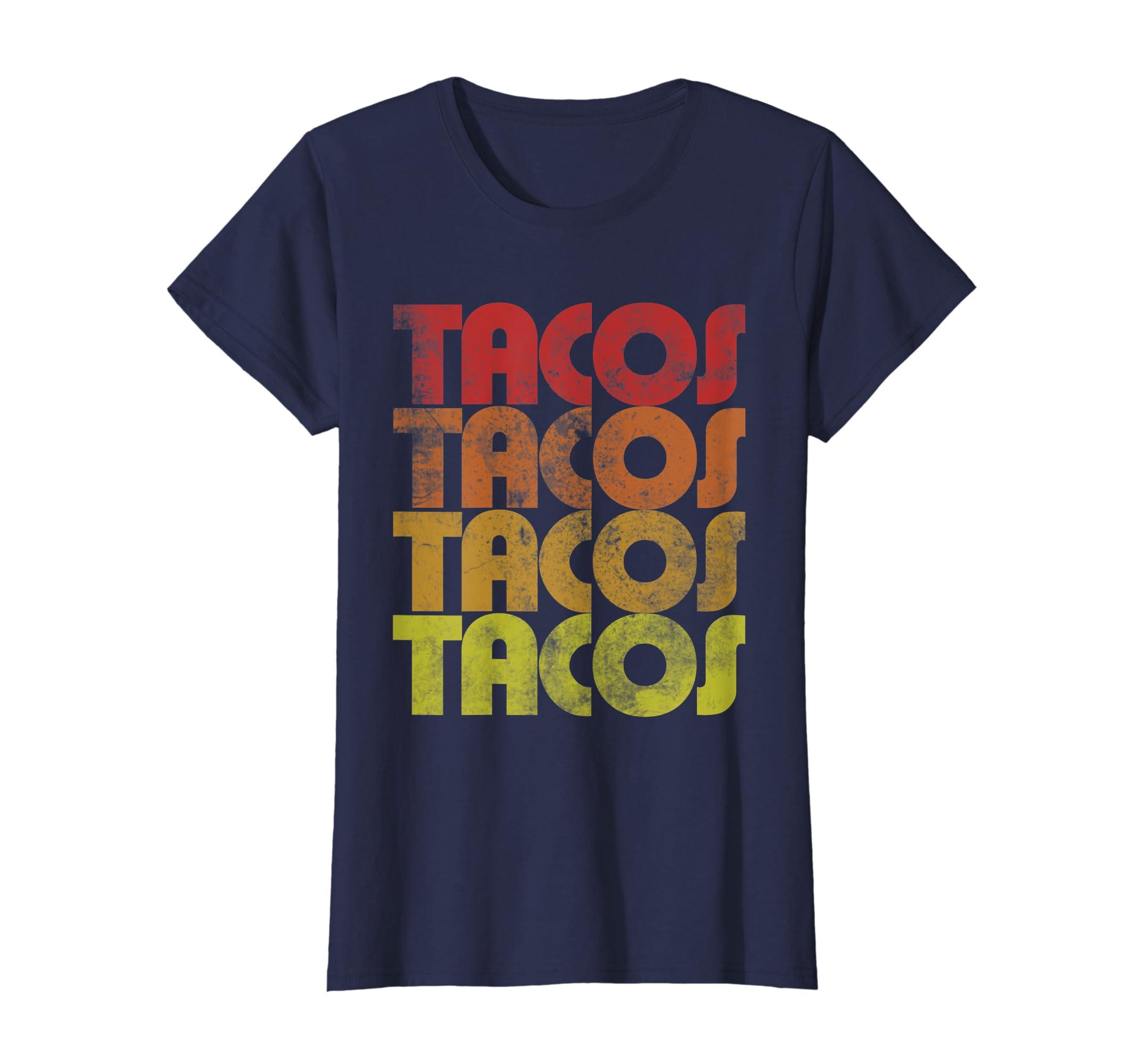 061c2f660bc Amazon.com  Retro Tacos t-shirt Vintage Taco Tuesday shirt  Clothing