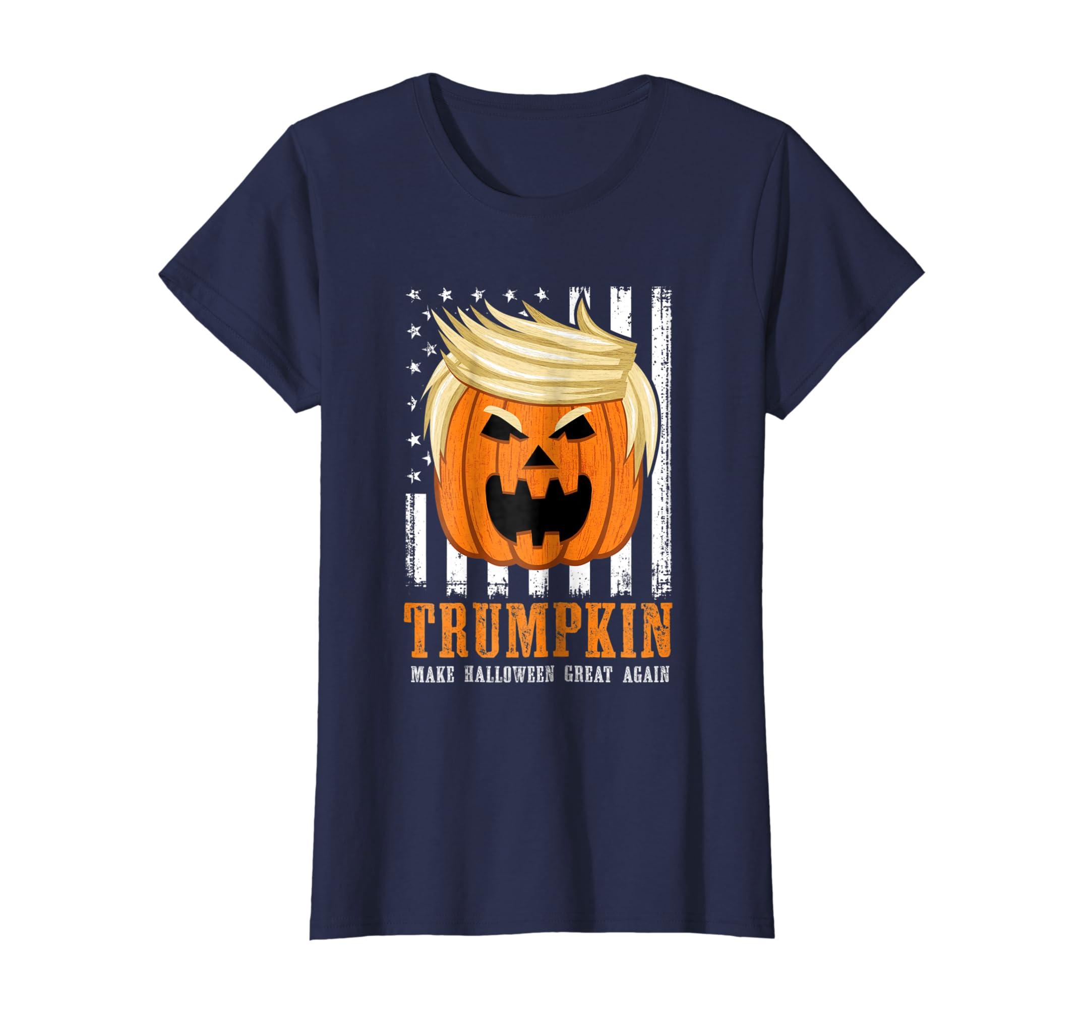 0611a4f71 Amazon.com: USA Trumpkin Make Halloween Great Again Funny T-Shirt: Clothing