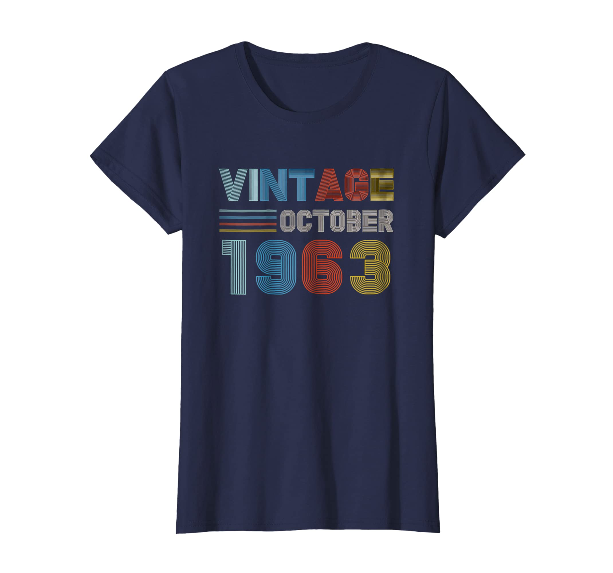 4ea2453c Amazon.com: October 1963 T-Shirt 55th Birthday Gifts 55 Year Old Shirt:  Clothing