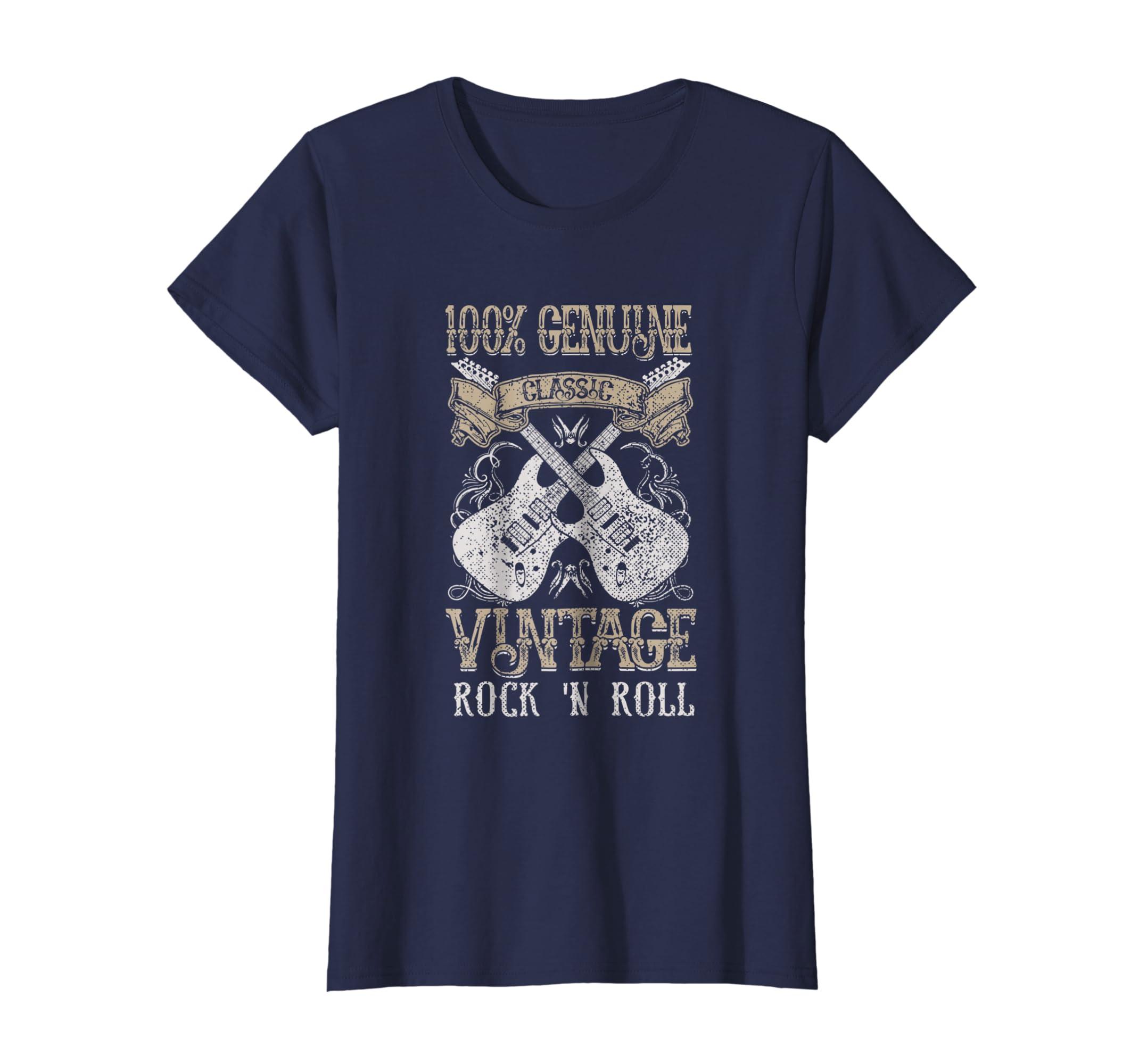 9c144c93 Amazon.com: Classic Vintage Rock T Shirt Rock n Roll Guitars Music Gift:  Clothing