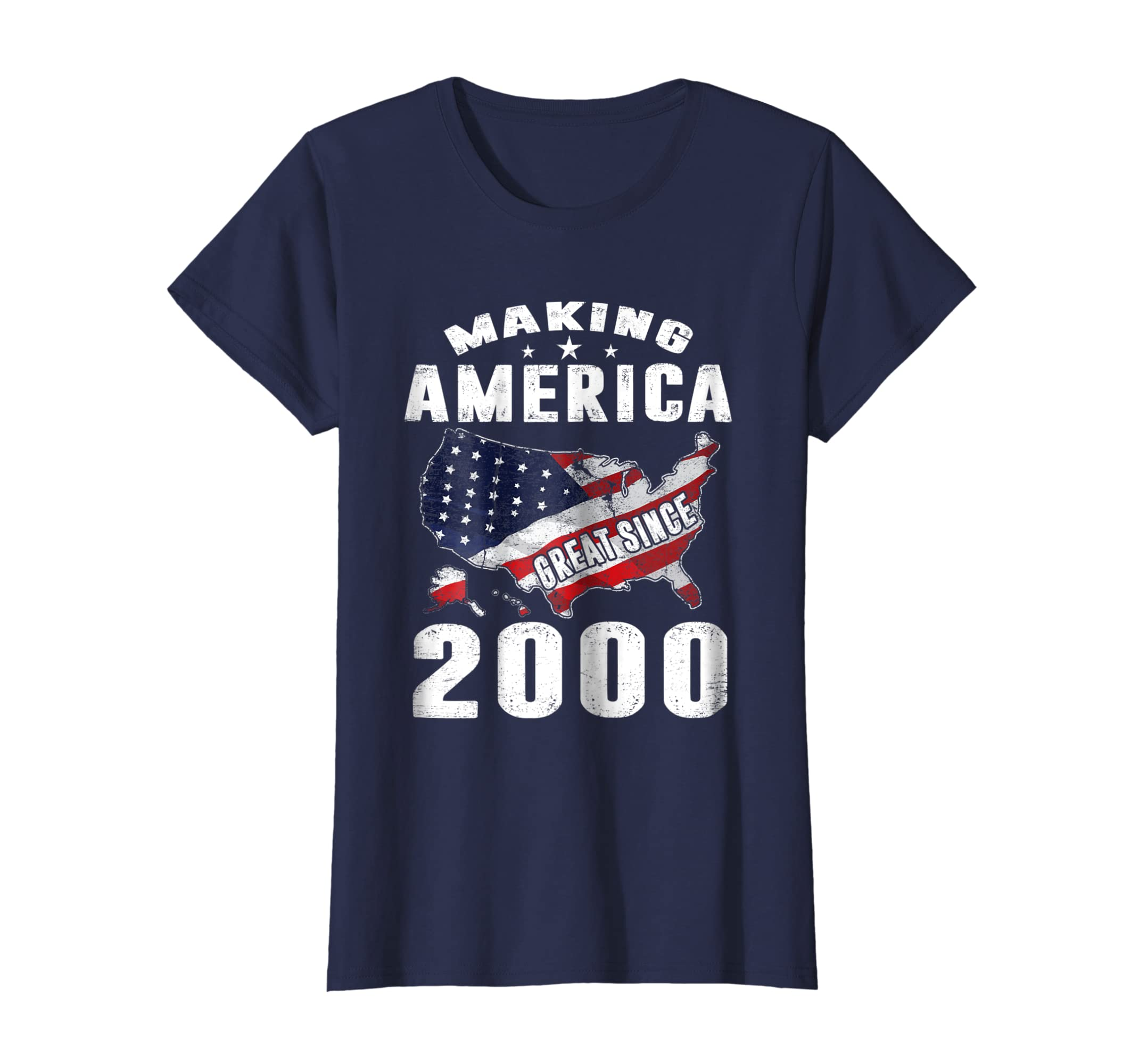 18th Birthday Gifts Making America Great Since 2000 T Shirt