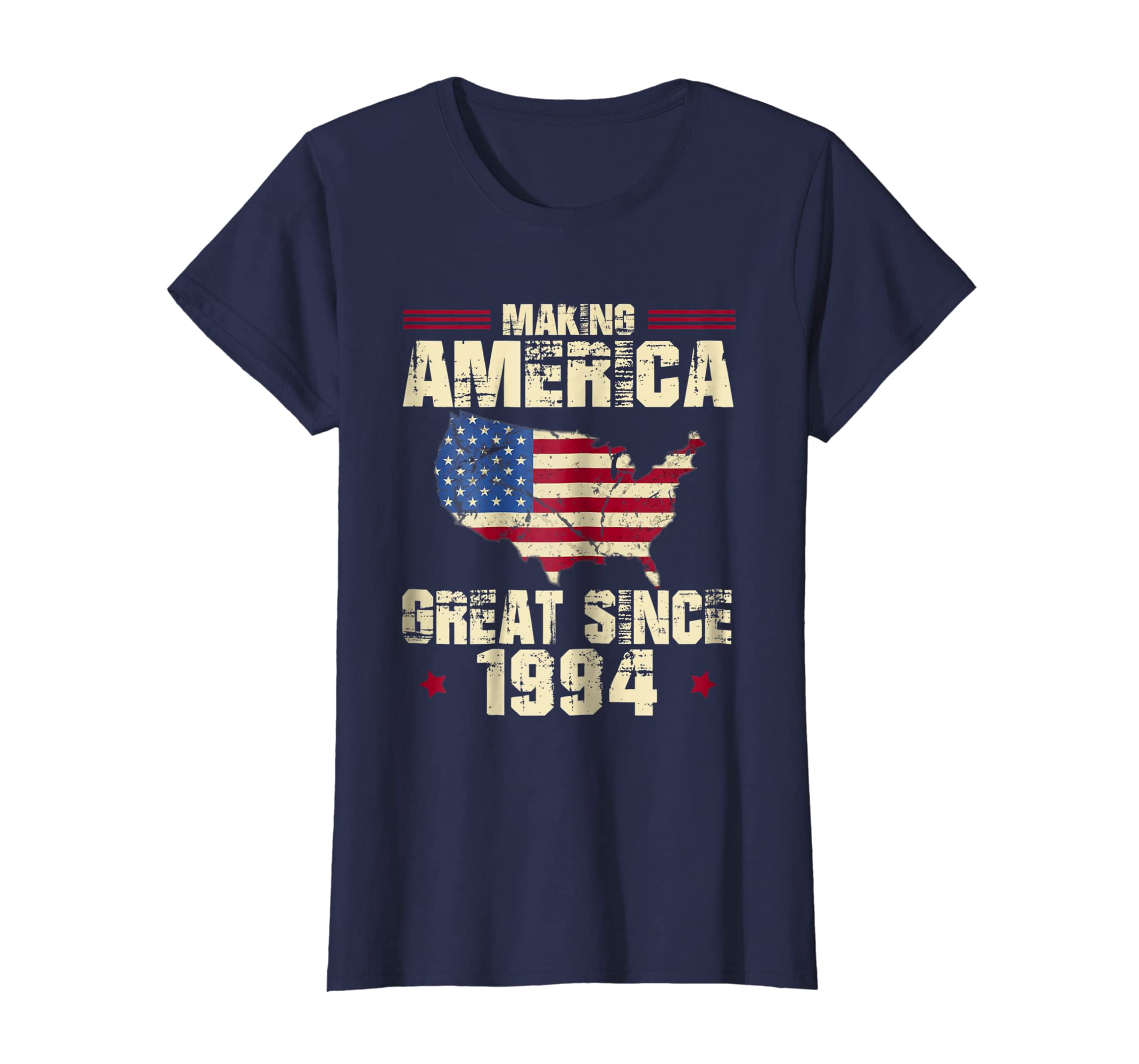 Amazon 25th Birthday Gift Fun Making America Great Since 1994 Shirt Clothing