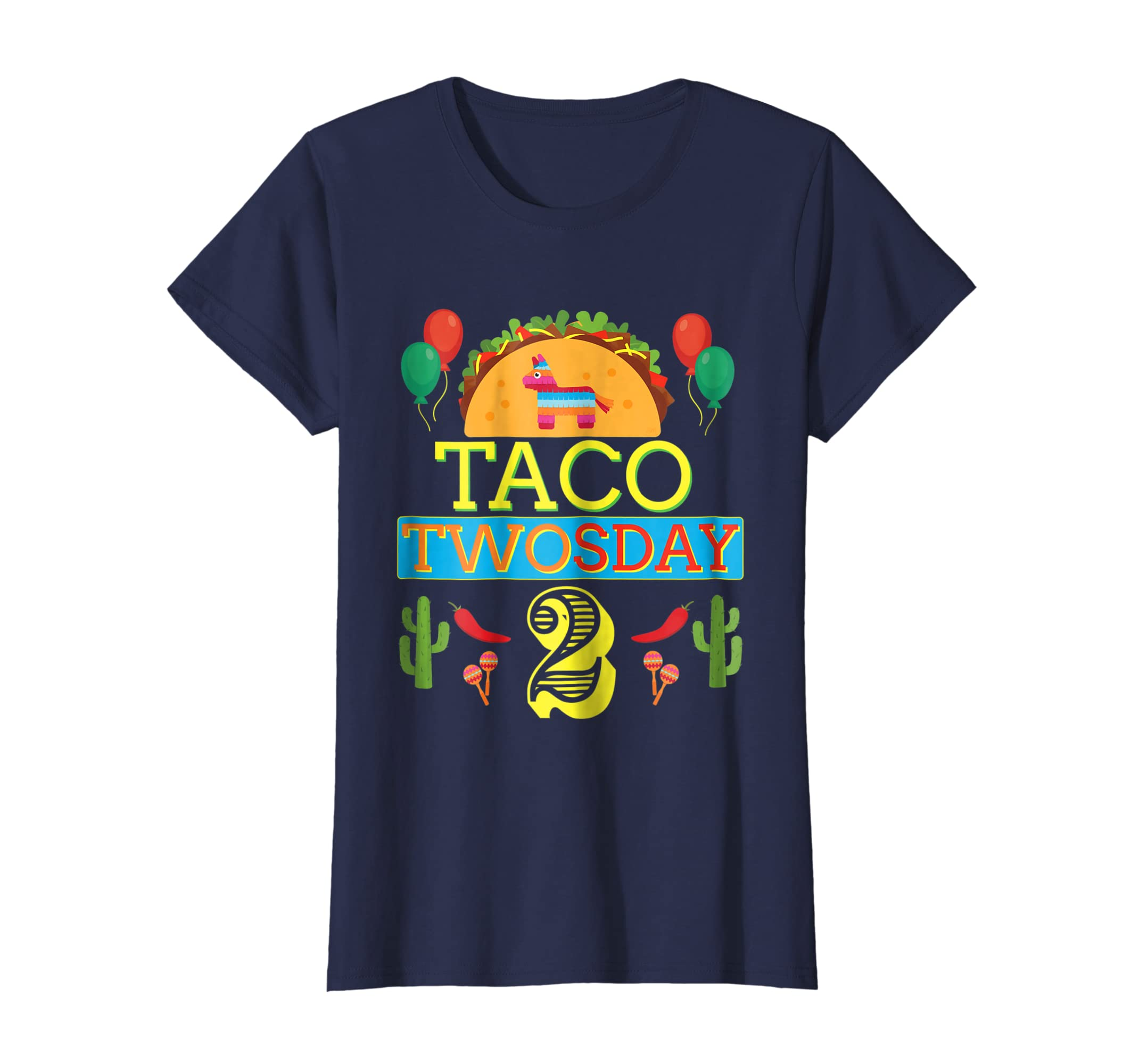 Amazon Taco Twosday Birthday Shirt 2 Two Year Old Boy Girl