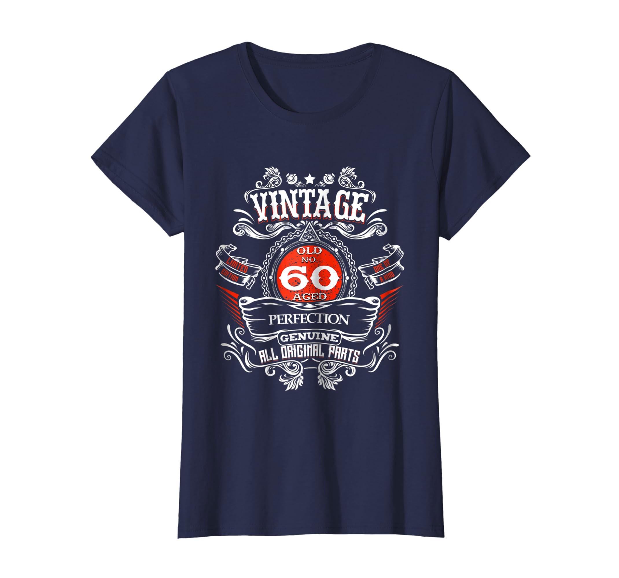 b3e61f26f9ca Amazon.com  Vintage 60th Birthday 1959 60 Years Old Gift T-shirt  Clothing