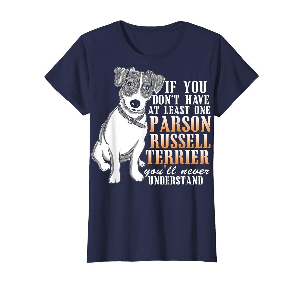 Parson Russell Terrier T Shirt, I Love My Dog T Shirt-Women's T-Shirt-Navy
