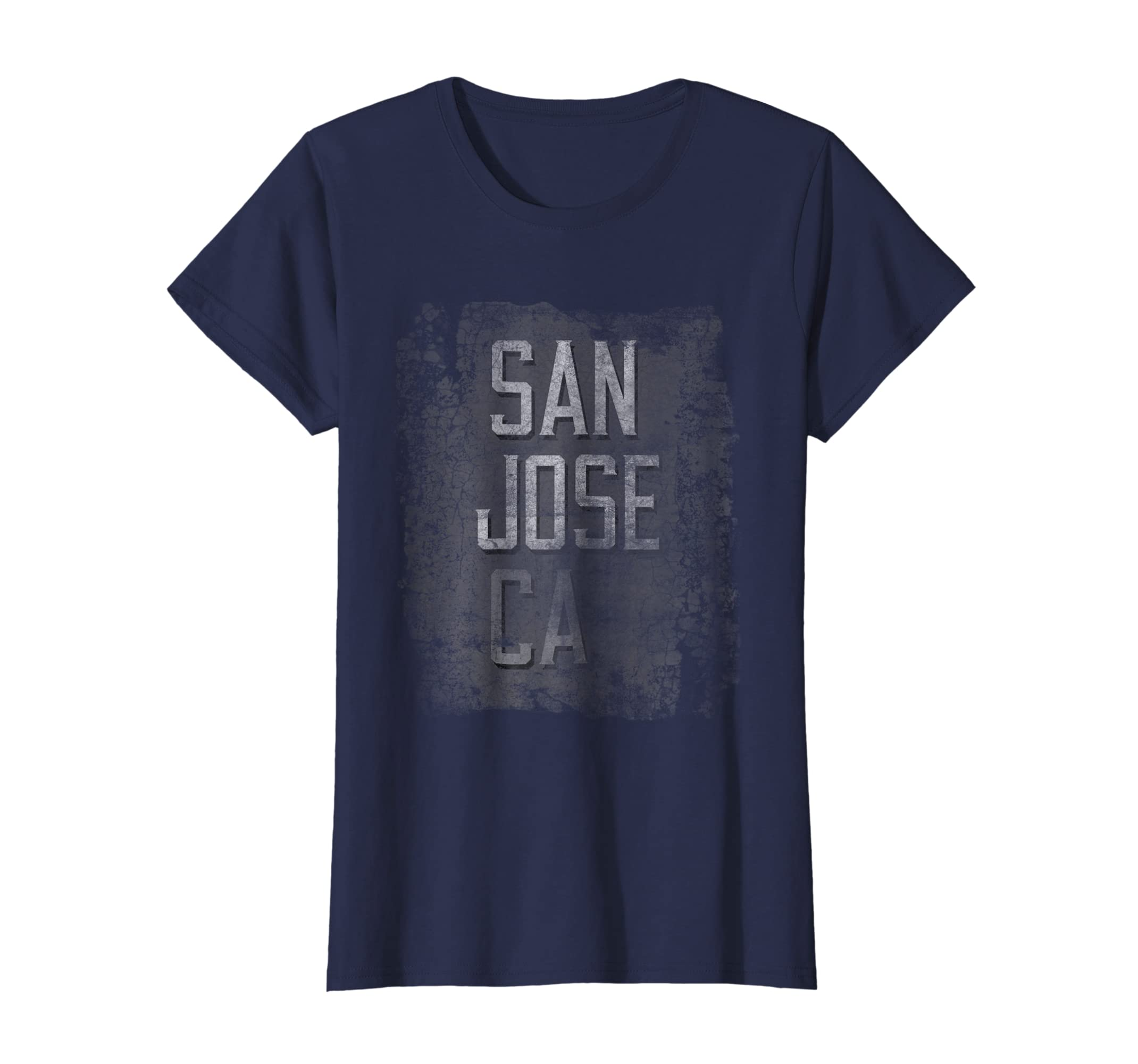 Amazon San Jose California Ca Distressed City Grunge Dark T