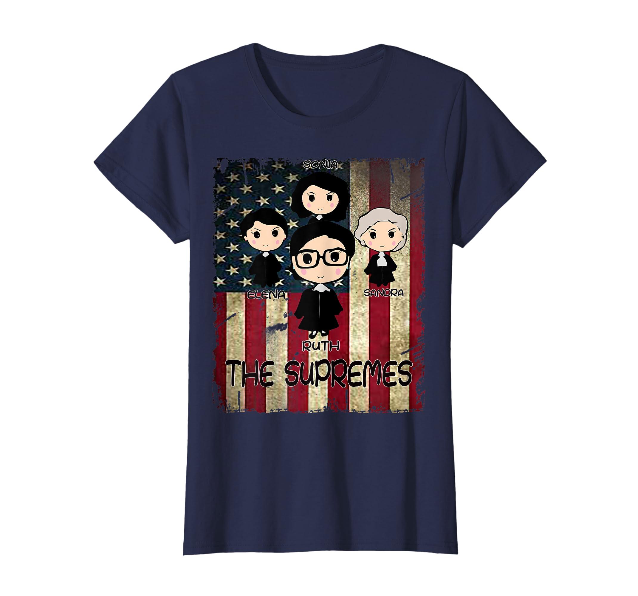 Amazon.com  THE SUPREMES Supreme Court Justices RBG vintage USA T-Shirt   Clothing 2c1dfa3937