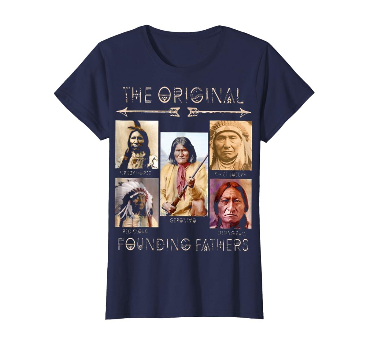 the original founding fathers native classic shirt-Women's T-Shirt-Navy