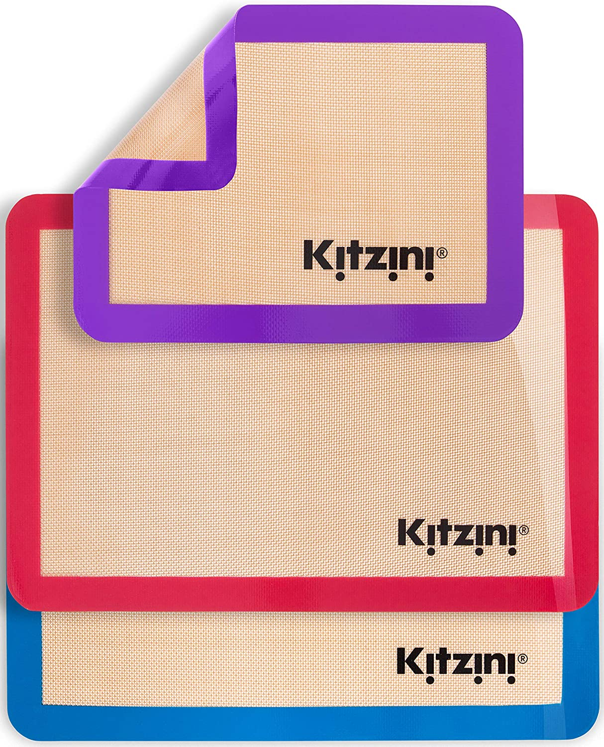 Kitzini Silicone SEAL limited product Baking Mat 2021new shipping free shipping Set. Bak Non-Stick Mats for