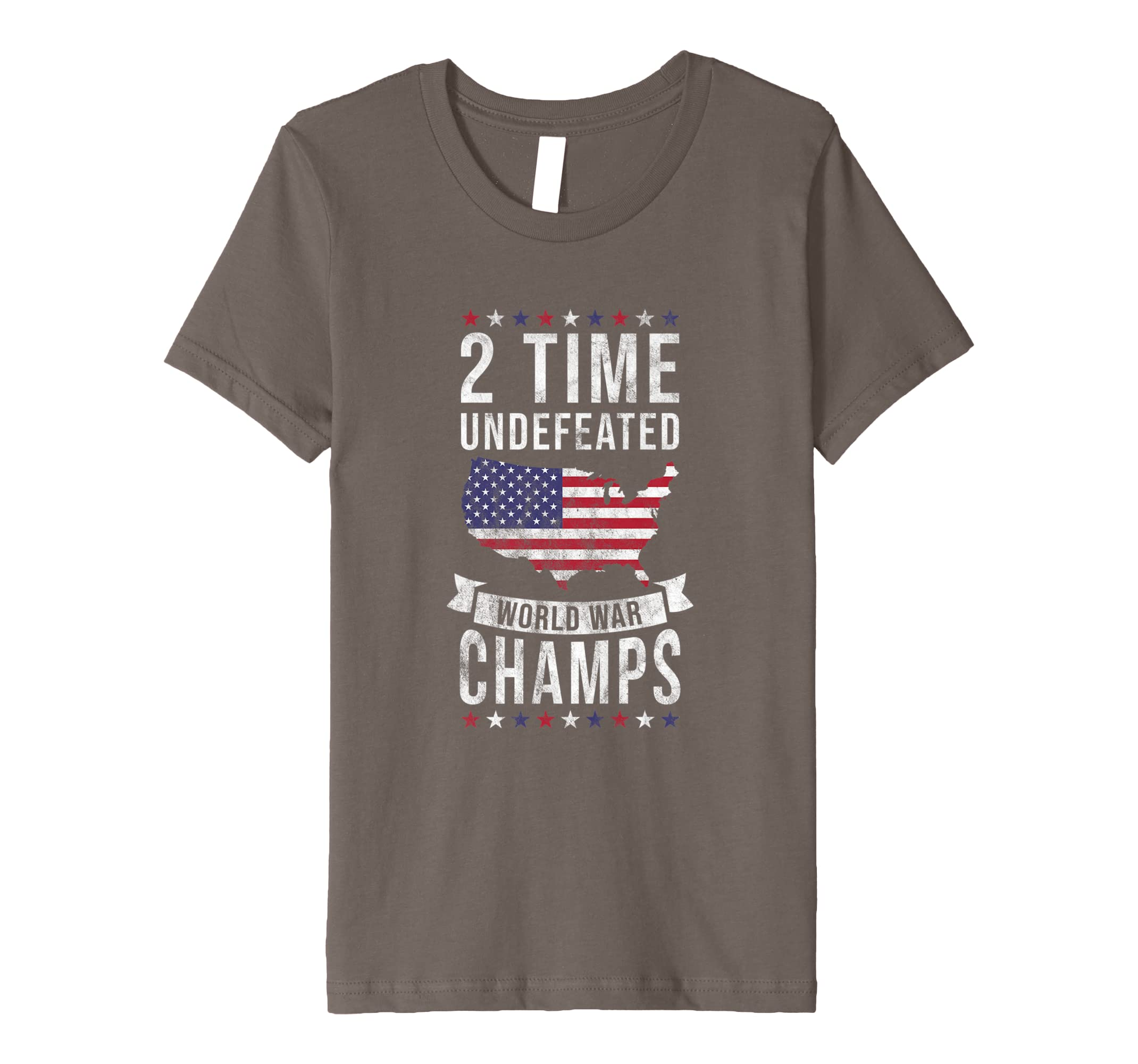 65fa35d9 Amazon.com: Independence Day Shirt 2 Time Undefeated World War Champ Tee:  Clothing