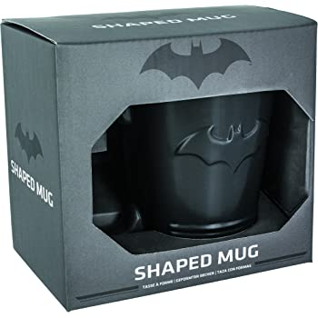 Paladone Batman Shaped Ceramic Coffee Mug - DC Comics Embossed Cup