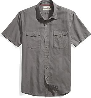 Amazon Brand - Goodthreads Men's Standard-Fit Short-Sleeve Ripstop Dobby Shirt
