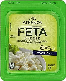 Athenos Traditional Crumbled Feta Cheese (4 oz Tub)
