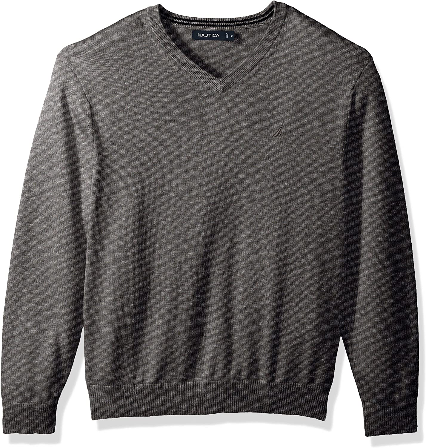 Nautica Men's Long half Free shipping New Sleeve Sweater V-Neck Classic Solid
