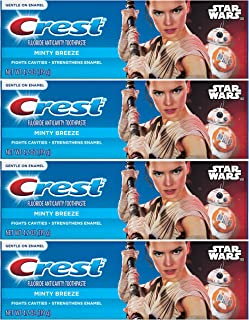Crest Pro Health Junior Star Wars Children's Fluoride Anticavity Toothpaste Minty Breeze 4.2 oz,119 gr (Pack of 4)