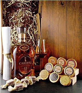 Geschenk Cardhu 12 Jahre Single Malt Whisky  1 Bugatti Glas  Edelschokolade  Fudge