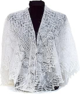 Fedelkea Premium Orenburg Shawl Wrap Lace Knitted Wool Goat Down Russian Handmade