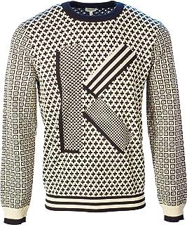 Kenzo Knitwear Jaquard Knit Pattern 5PU210 3LB-Black