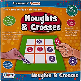 Fiesta Crafts Noughts and Crosses Stickabouts Game, Multi-Colour, T-2921