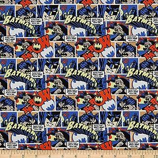 Batman Cotton Fabric Logo  Superhero DC Comics  Sewing Quilting  DIY Craft Face Mask Fabric