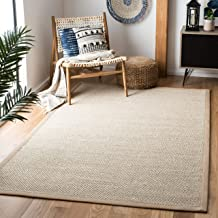 Safavieh Natural Fiber Collection NF143B Marble and Linen Sisal Area Rug (3' x 5')