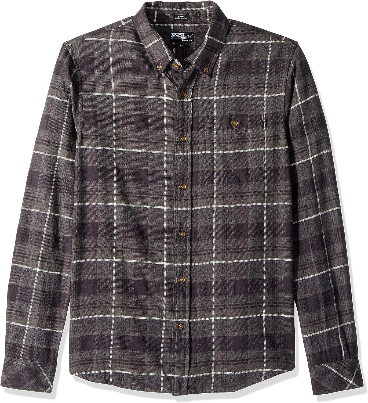 O'Neill Men's Redmond Flannel, Black, XL