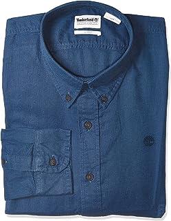 TIMBERLAND Men's L-R LS Solid Linen Shirt