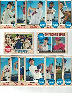 Minnesota Twins / Complete 2017 Topps Heritage Baseball Team Set. FREE 2016 TOPPS HERITAGE TWINS TEAM SET WITH PURCHASE!