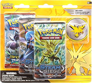 Pokemon TCG: Legendary Birds Blister Pack Containing 3 Booster Packs and Featuring A Zapdos Collector's Pin