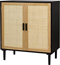 Finnhomy Sideboard Buffet Cabinet, Kitchen Storage Cabinet with Rattan Decorated Doors, Liquor Cabinet for Bar, Dining Roo...