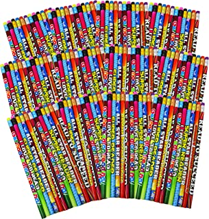 SN Incorp. Motivational Pencils for Students Readers Pencil Assortment for Classroom Rewards I Love to Read Pencil Party Favors - Bulk School Supplies Pencils 144