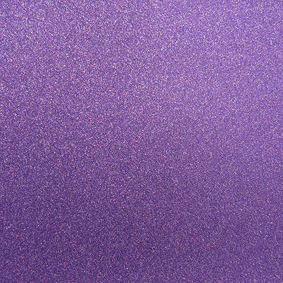 Best Creation 12-Inch by 12-Inch Glitter Cardstock, Grape Gem