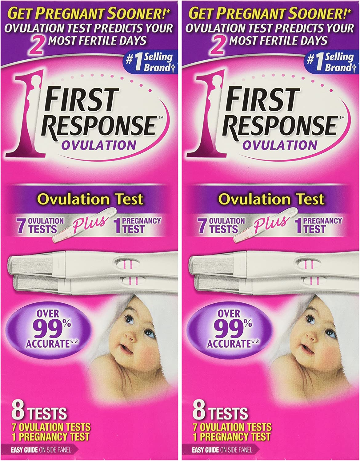 First Response Ovulation 7 Ovulation Test Plus, 8 Count (Pack of 2)