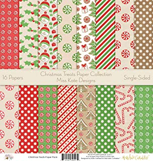 Pattern Paper Pack - Christmas Treats - Scrapbook Premium Specialty Paper Single-Sided 12