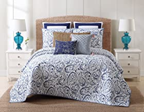 Oceanfront Resort Indienne Paisley Cotton Quilt Set, King