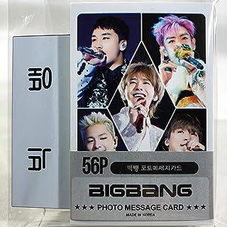 BIGBANG ビッグバン グッズ / フォト メッセージカード 56枚 (ミニ ポストカード 56枚) + ネームプレート (名札) セット - Photo Message Card 56pcs (Mini Post Card 56pcs) + Name Plate [TradePlace K-POP 韓国製]