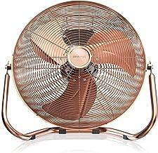 Brandson - 48 W Ventilateur en Design rétro Chrome | 38,5 cm de diamètre | Trois Vitesses Low - Medium - High | Débit d'ai...