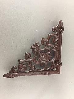 BI03DT210-S_6 - Antique Brown/Black Cast Iron Shelf Bracket (6pcs)