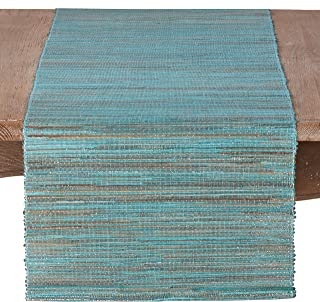 SARO LIFESTYLE 217.TQ1672B Melaya Collection Nubby Texture Woven Table Runner, 16
