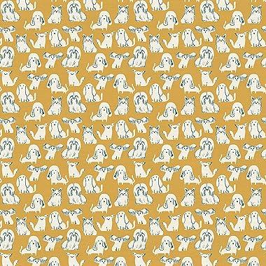 PBS Fabrics Dog Breeds, Gold