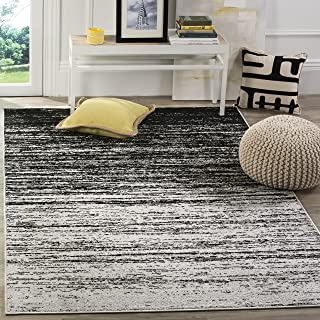 Safavieh Adirondack Collection ADR113A Silver and Black Modern Abstract Area Rug (6' x 9')