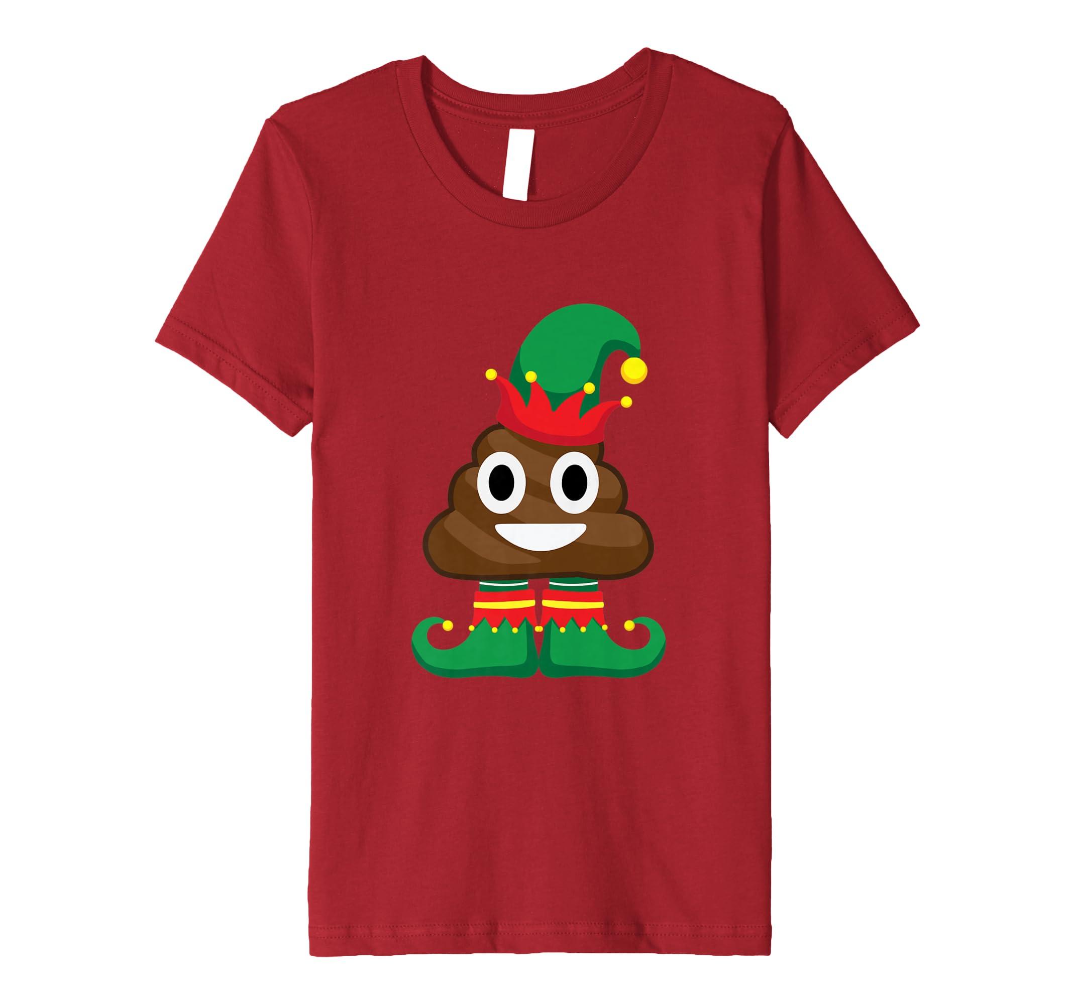 Elf Poop Emoji Shirt Lustiges Weihnachtshemd Poop Shirt: Amazon.de ...