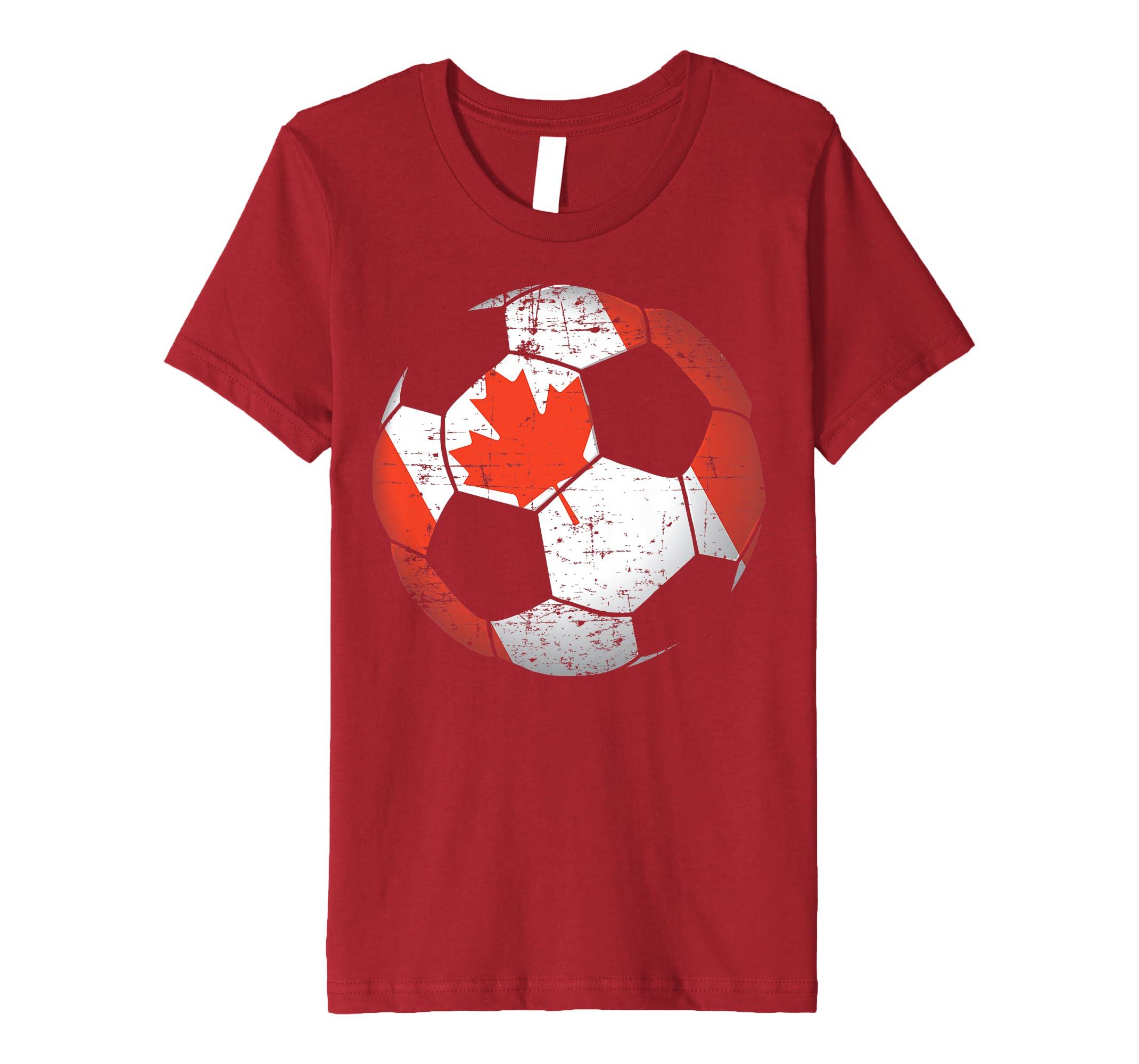 Amazon.com  Canada Soccer Ball Flag Jersey Shirt - Canadian Football   Clothing 9261d4b78