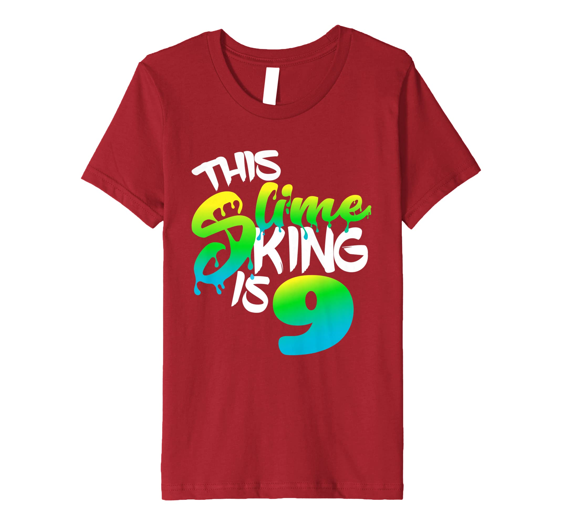 Amazon This Slime King Is 9 Gift Birthday T Shirt For Boys Clothing